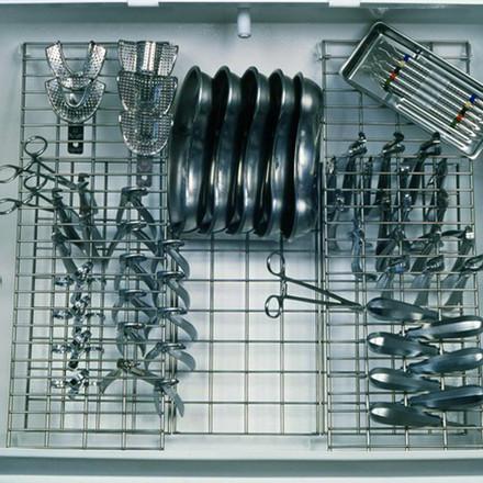 Шкаф для хранения стерильного инструмента Панмед-1С  (стеклянная  сектор-крышка)