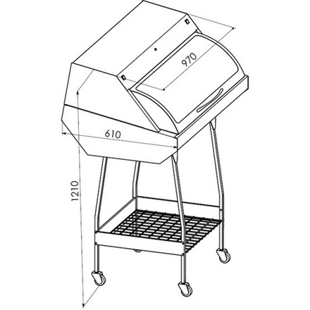 Шкаф для хранения стерильного инструмента Панмед-1Б  (стеклянная  сектор-крышка)