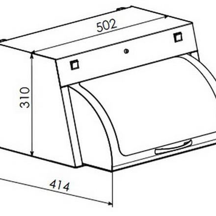 Шафа для зберігання стерильного інструменту Панмед-1М (скляна сектор-кришка)