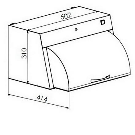 Шафа для зберігання стерильного інструменту Панмед-1М (металева сектор-кришка)